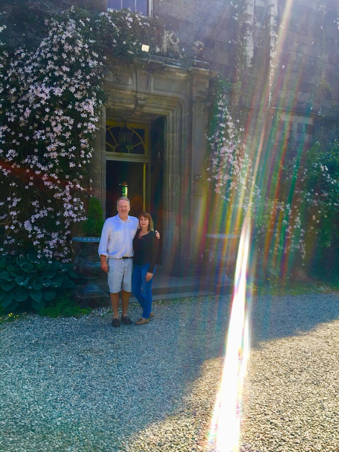 image of angel lights at castle in Scotland with J. Wilder Bill
