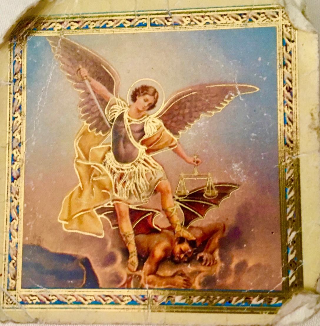 image of prayer card of Saint Michael