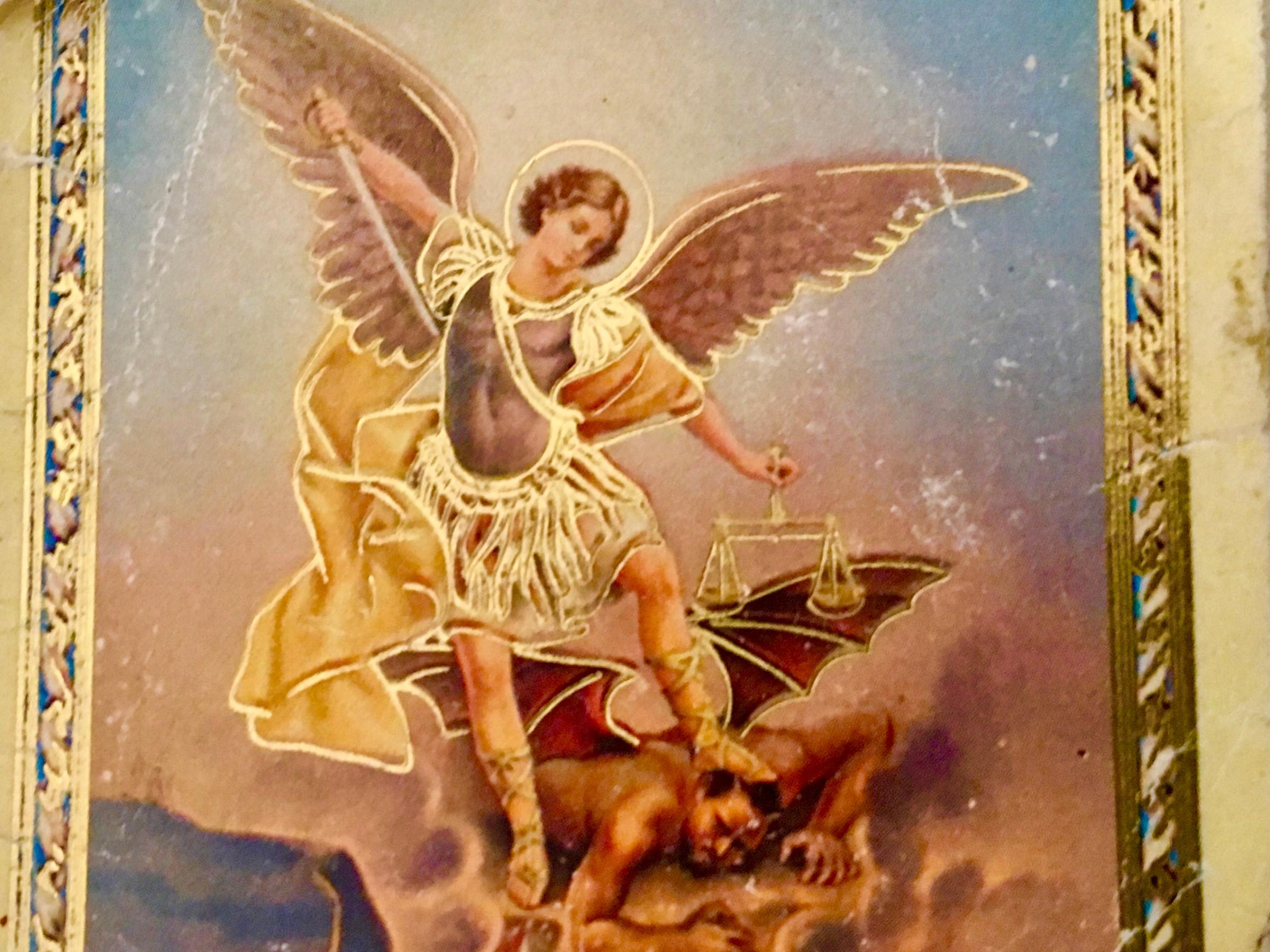 image of prayer card of Saint Michael