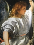 image of angel with banner