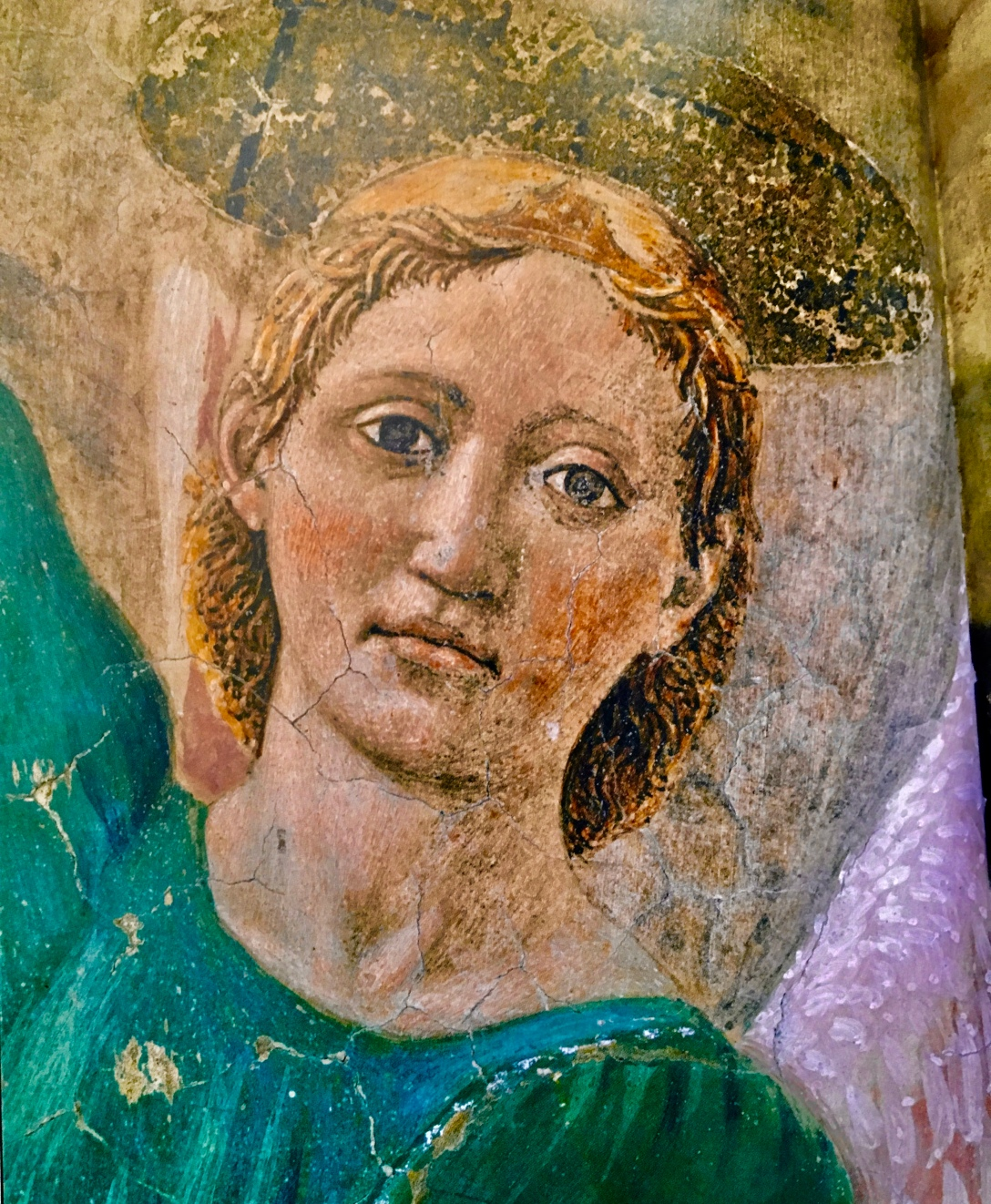 image of angel in green robe