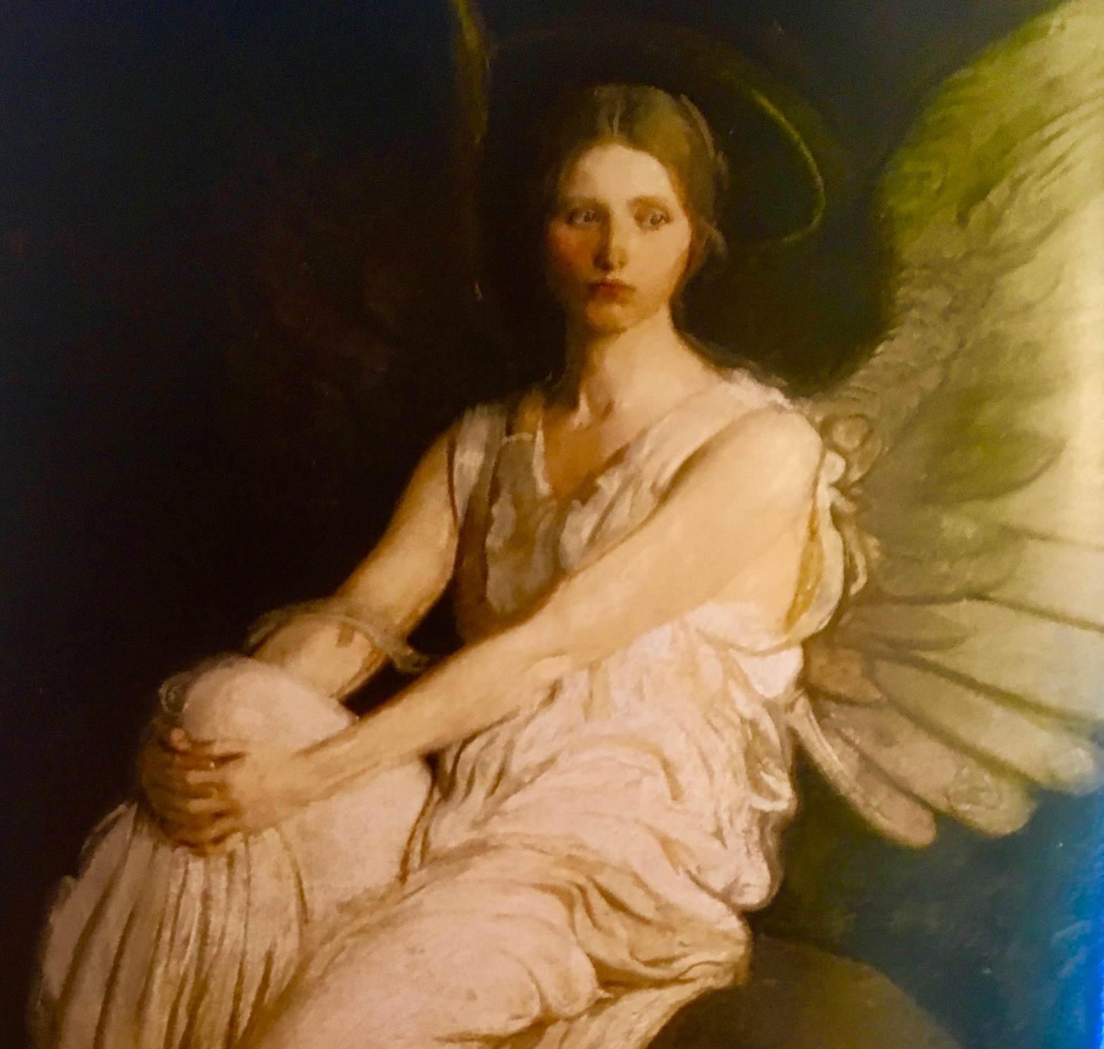 image of an angel in white robes
