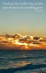 image of sunrise through clouds over Atlantic Ocean
