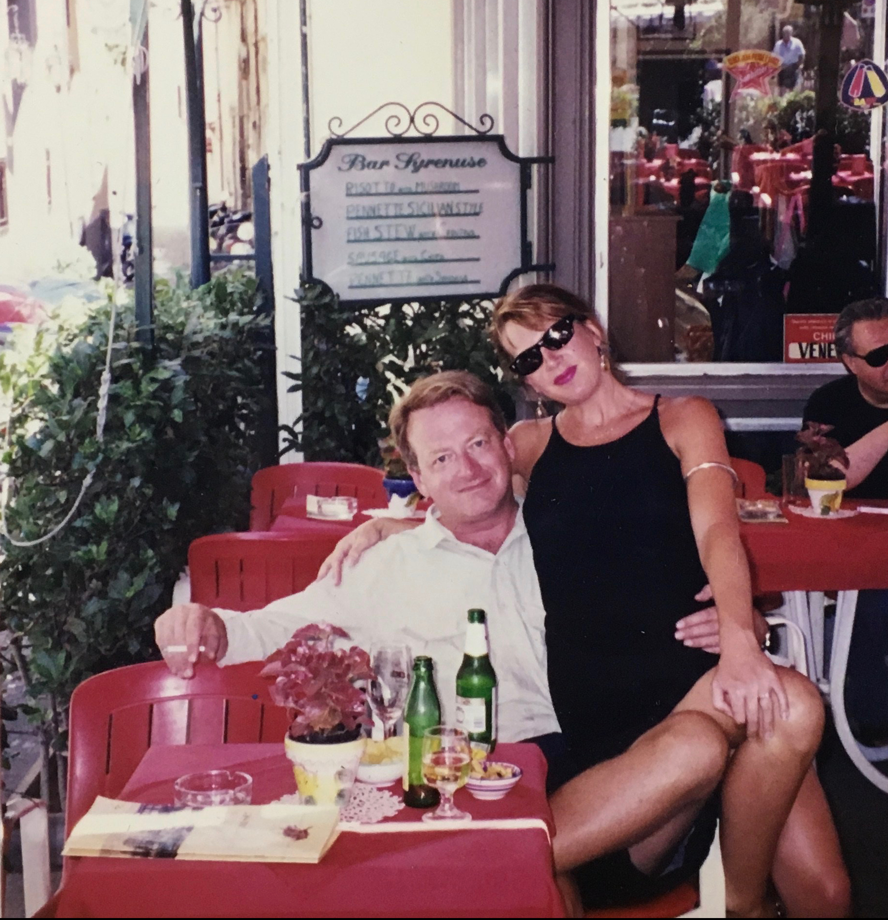 image of J. Wilder Bill with her spouse in Italy