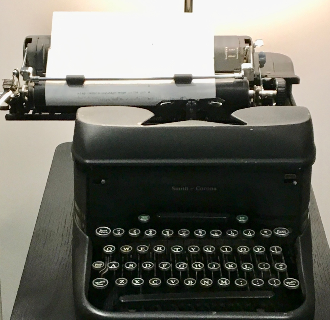 image of vintage typewriter taken at the Boston Globe
