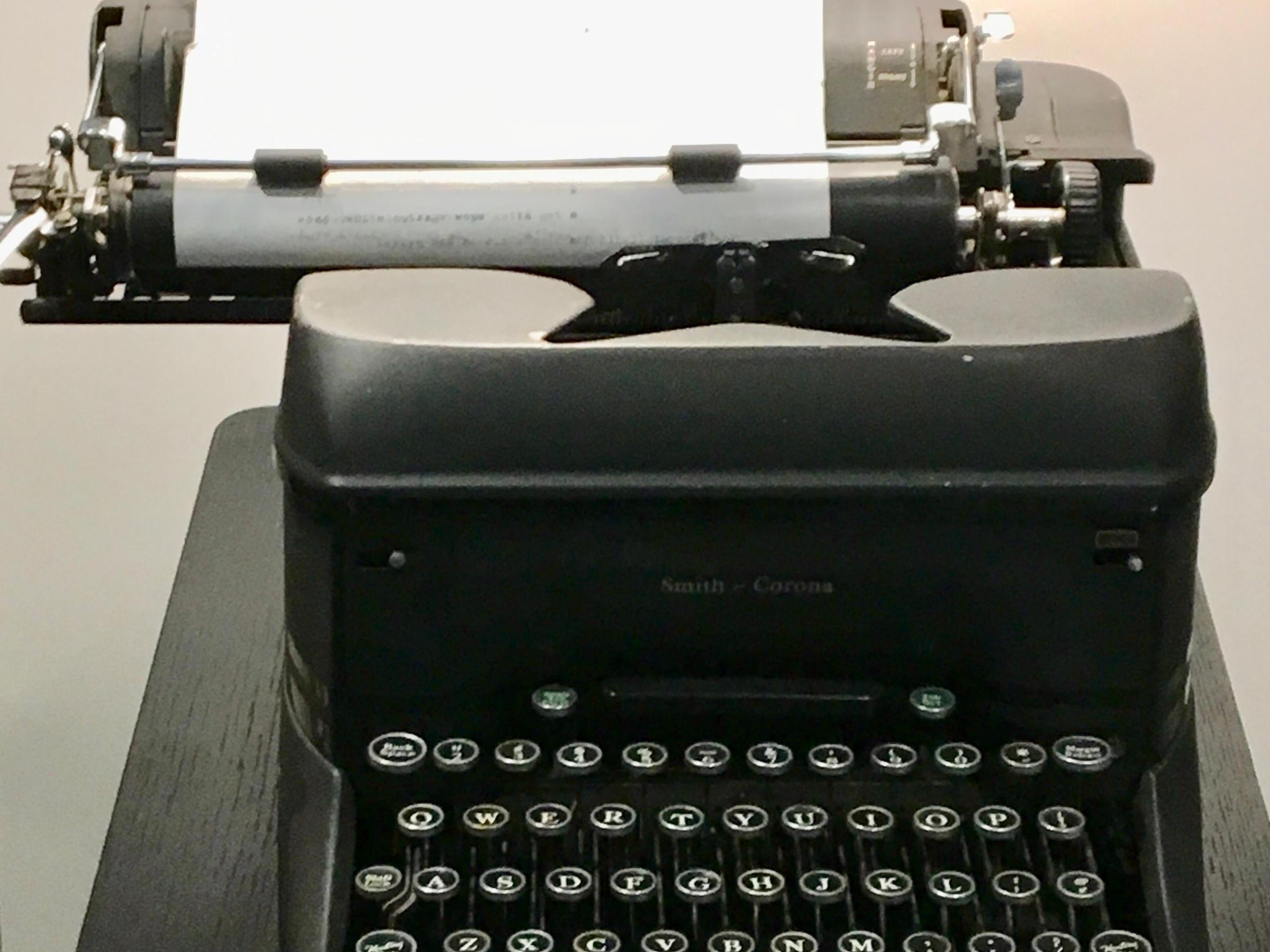 image of vintage typewriter taken at the Boston Globe